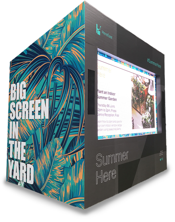 Graphical Sign large event graphics video display stand 3