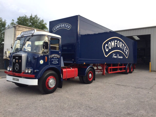 Comfortex blue lorry vehicle graphics by Graphical Sign Ramsgate 2